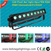RGB LED Bar light Pixel control 9pcs*9W Tri RGB LEDs,Dj light,Dj equipment