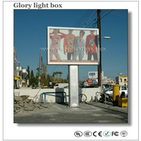 CE Approved Big Size Outdoor Scrolling Billboard with pole