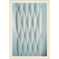 3D and waves decorative panel