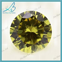 Round brilliant cut olive cz gemstone,cz diamond,cz stone