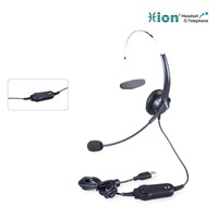 Lightweight Monaural Call Center Headset with USB plug