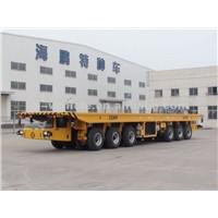 120T Self-propelled Heavy-duty Hydraulic Flatbed Truck Trailer