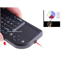 PF401 2.4 G mini wireless keyboard built-in fly air mouse with touchpad for Smart TV