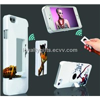 iphone 5 / 5S shutter case with a built-in wireless camera shutter and mobile phone stand