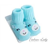 baby socks shoes factory sale 92% cotton animal shape cozy anti slip indoor use cotton walk learning