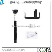 Hot Sale Extendable Wirless Selfie Stick Monopod  with Bluetooth Remote Shutter for smartphones