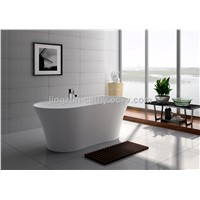 Jingzun Freestanding Bathtub White Matt Solid Surface Bathtub-JZ8601