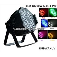 LED 18pcs*10w 6 In 1 RGBWA+UV Indoor Par Can Light(MD-C007B)
