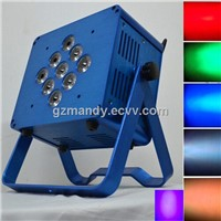 LED 9bulbs*15W RGBWA UV 6 In 1 Flat Battery Wifi Par Light Via Cell Phone Control(MD-C049)
