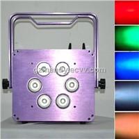 Stage LED 6PCS*15w RGBWA UV 6 In 1 Battery Flat Par Light(MD-C048)