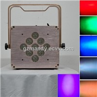 LED 9bulbs*15 W 6 In 1 RGBWA UV Flat Battery Wifi Par Light (MD-C049)