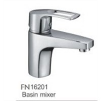 Brass chromed finish square design wash basin faucet hot sales