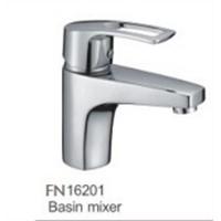 Brass chromed finish square design wash basin faucet hot sales