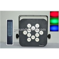 LCD Display 50 Watt Outdoor Stage LED 12 Bulbs Remote Controller Flat Battery Par Light(MD-C044)