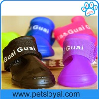 Colorful Dog Pet Boots Rubber Water Protective Pet Shoes Booties Waterproof Rain