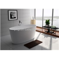 Cultured Freestanding Bathtub Composite Resin Artificial Stone Bathtub-JZ8602