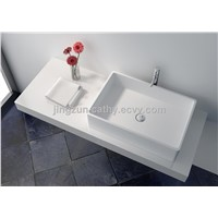 Customized Shape Artificial stone Composite Resin Counter-top Wash Basin-JZ9010