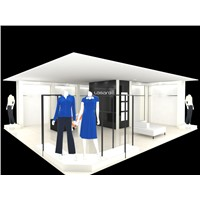 Fasion Woman clothes shop display,all in one service Fabric shop fitting
