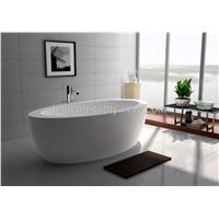 Modern Designed Freestanding White Matt Solid Surface Stone Bathtub-JZ8615