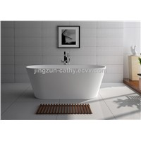 Molded Modern Freestanding Resin Stone Bathroom Mineral Oval bathtub-JZ8606