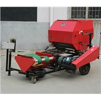 Straw bundling and wrapping machine