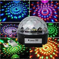 Disco Mini Magic Ball RGBWYP LED Stage Light Six Circle With MP3 Player Or Bluetooth(MD-I032)