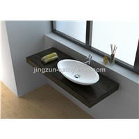 Hand Wash Economic Solid Surface Counter-top Wash Basin-JZ9005