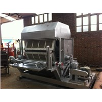 Waste recycling egg tray production line