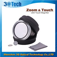 zoom touch led magnifier for old people wholesale magnifying glass
