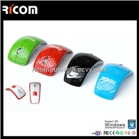 2.4ghz wireless folding mouse,computer wireless foldable mouse,optical arc mouse--MW8013