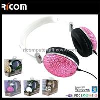 Bling headphone,crystal headphone,diamond headphone