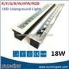 DC24V Projection Sidewalk Building RGB Dmx512 Outdoor Linear Buried Lamp LED Underground Driveway Light 18W 24W 36W