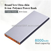 8000mah Slim Power Bank with LED Torch for Mobile Phone