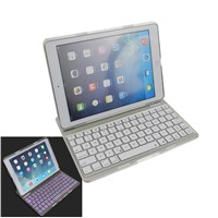 F5S Wireless Bluetooth Keyboard with Backlight for Ipad 5/Ipad Air- Silver