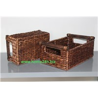 Water Hyacinth Storage Drawer S/2