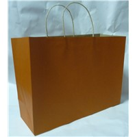 eco-friendly recycled brown kraft paper bag for shopping