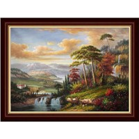 hand painted impressionist landscape
