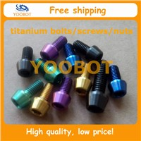Color Titanium Conical Socket Hex Bolts Screws With Allen Key