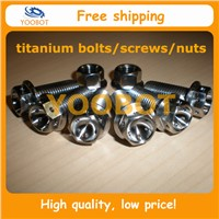 DIN6921 GR5 Ti6Al4V Titanium Flange Hex Racing Bolt Screw With The Head Cross Drilled Hole