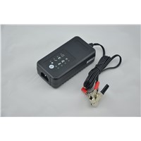12V motorcycle car battery charger with defulfating function