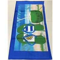 high quality printed velour beach towel stock