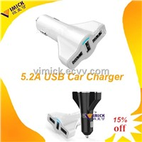 travel charger for samsung/ipad/iphone 5V5.1A5.2A 3 USB PORT