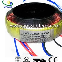 CE UL high Efficiency transformer toroidal/ring transformer manufactures/audio toroidan transformer