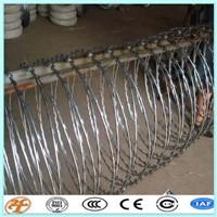 Single Razor Razor Type and Barbed Wire Mesh Type 450mm coil diameter concertina razor barbed wire