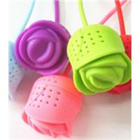 tea tools, Rose shape silicone tea infuser, tea filter, tea strainer