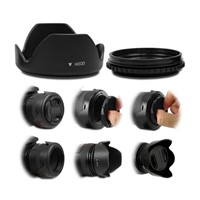 72MM Reversible Petal Lens Hood & Lens Cap for Canon EOS 7D 50D 5D 60D 18-200mm