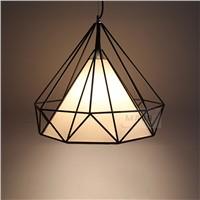 Energy Saving Light Source and Black Color retro metal pendant lamp pyramid shape TC cover