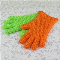 Kitchen Cooking Oven Silicone Heat Resistant BBQ Gloves