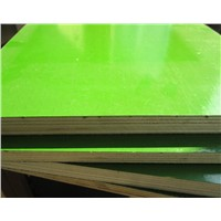 plad green plastic faced plywood