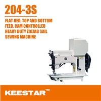 204-3SA bottom feed cam controlled heavy duty industrial zigzag sewing machine for price